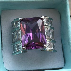 Gorgeous Purple Sapphire Engagement Ring
